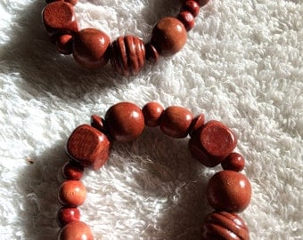 Wooded Rose - wooden beads, rosewood colored jewelry, rosewood earring, rosewood bracelets, rosewood necklace, 2timothys16, rosewood beads