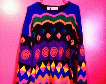 Vintage 80s/90s Knit Sweater Size Large
