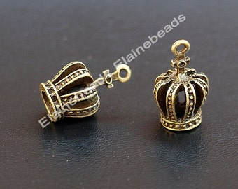 18PCS Crown Charm Antique Bronze Crown Pendants Imperial Crown Charms DIY Supplies Jewelry Making 21mmX 13mmX10mm jewelry accessories