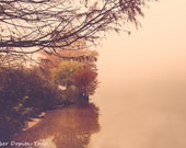 Foggy Autumn Morning in Austin, Texas Fine Art Photo Print
