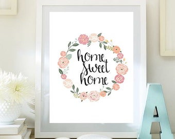 Home sweet home print Quote Printable wall art Guest Room Decor Entrance wall art home decor printable guest room Quote art poster 7small
