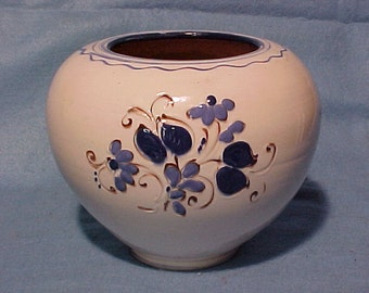 "Danish Pottery Herman Kahler Keramik Vase Floral HAK 6 5/8"" Denmark"