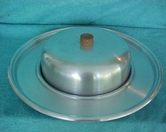 Russel Wright Spun Aluminum Cheese Tray With Lid