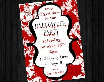 Bloody Halloween Invitation (Printable)