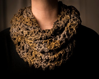 Olive and Slate Grey Cowl