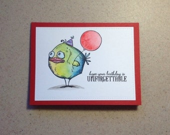 Birthday Card, Funny Birthday Card, Handmade Greeting Card
