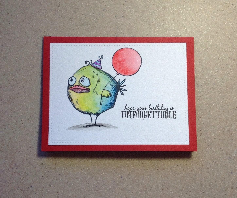 Birthday Card Funny Birthday Card Handmade Greeting Card