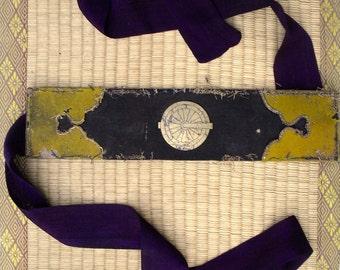 Antique Japanese Fireman's (hikeshi) 大名火消  Ate-Obi headband or waist sash. Edo period