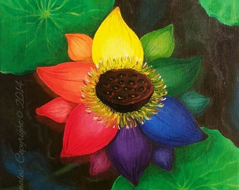 Colorful bloom (acrylic painting )