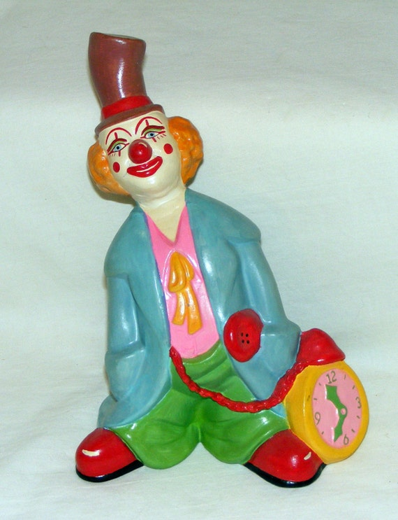 Vintage Hand Painted Ceramic Clown