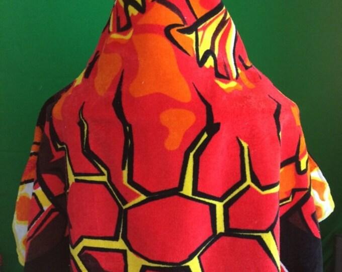 BOYS Born to Burn Hooded Beach Towel Wrap Personalized
