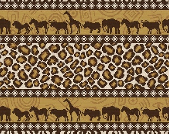 "Cross stitch pattern ""Pillow - Africa"""