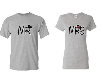 Mr. and Mrs. Bride and Groom Couples T-shirts Mr. and Mrs. Shirt Couples Shirt Mr and Mrs