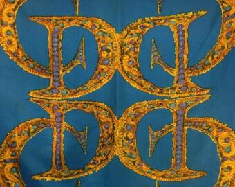 1950 vintage Christian Dior scarf silk rare