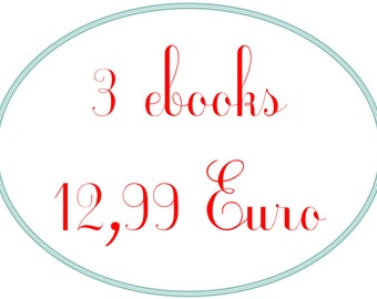sewing pattern set 3 ebooks for 12,99 Euro