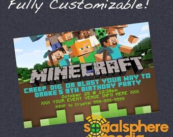 Minecraft Birthday Invitation