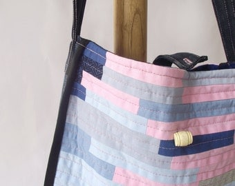 Pink Tote Bag-Hand Bag-Patchwork Tote Bag-Lined Hand Bag-Mothers Day