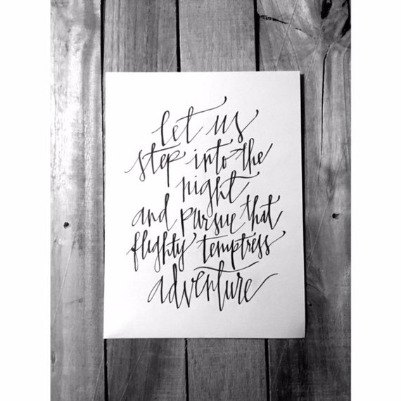 Items Similar To Harry Potter Quote Calligraphy On Etsy