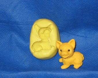 Dog Flexible Push Mold Rein Candy Paper Clay Chocolate Fondant #19 Cake Topper