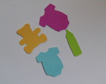 Baby Themed Die Cuts Package of 75 Pieces