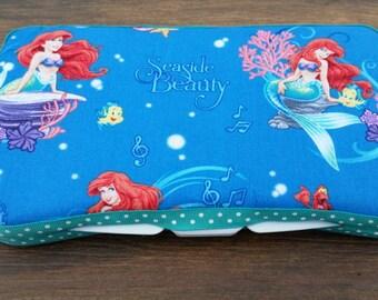 Mermaid Boutique Travel Wipe Case/Mermaid Baby/Wet Wipes Case/Baby Wipes Case/Princess Wipe Case/Baby Shower