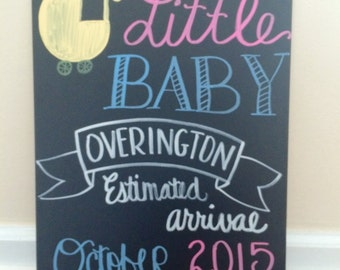 Pregnancy Announcement Chalkboard