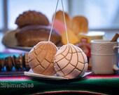 Pan Dulce Concha Chocolate Strawberry Fuzzy Conchas // Pan Dulce // Gift // Stocking Stuffer
