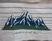 ADVENTURE Silkscreened Cotton Towel