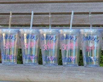 Bachelorette party cups, personalized cup, birthday party cups, monogrammed tumbler, stocking stuffer, beach tumbler, wedding party cup
