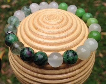 Chakra bracelet , Heart Chakra Crystal Healing Bracelet, Australian handmade
