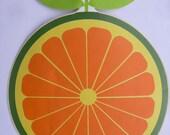 Unused rare 1970s Trac Tac Italian Italy home decoration sticker citrus fruit orange funky psychedelic children's room decoration Zoo line