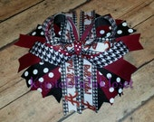 Ready to ship Alabama Boutique Bottle Cap Stacked hair bow Inspired - 6 inch stacked colorful bow- layered hair bow - Boutique hair Bow