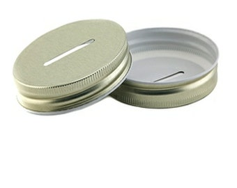 Mason Jar Gold Coin Lid - (1) Lid Only for Wide Mouth Mason Jars