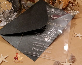 SAMPLE **** Acrylic Crystal Invitation Card