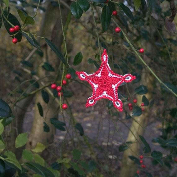 Haakpatroon ster kerst decoratie of cadeau kado origineel ontwerp door thecuriocraftsroom from - Decoratie studio ontwerp ...