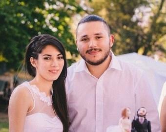 Wedding cake topper. Lovely Wedding couple. Custom and handmade item. Gift idea