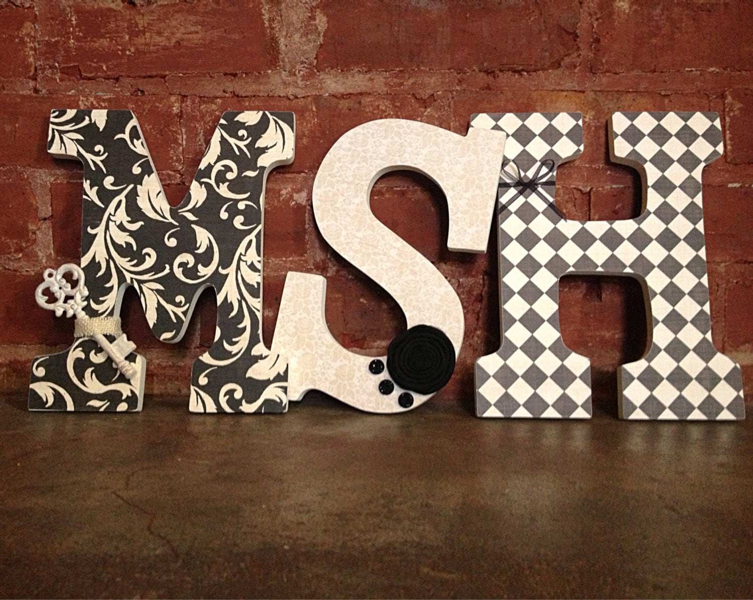 Custom Decorative Wooden Letters 3 By LoveLettersbyallifay