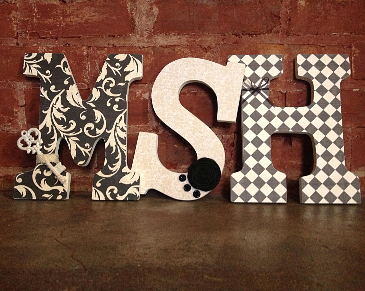 Custom decorative wooden letters 3 by lovelettersbyallifay for Making wooden letters