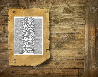 Joy Division  Unknown Pleasures - Temporary Tattoo