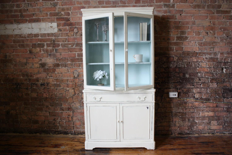 antique white china cabinet bookcase hutch item 0028. Black Bedroom Furniture Sets. Home Design Ideas