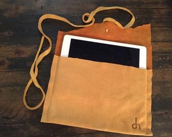 Handmade Deerhide Leather iPad Sleeve