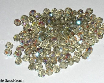 10g CZECH FIREPOLISHED BEADS 4mm 40010/28701
