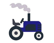 Tractor Machine Embroidery Design, Tractor Design, Farm Equipment, Farm Embroidery, Filled stitch, 4X4 5X7 6X10, Instant download