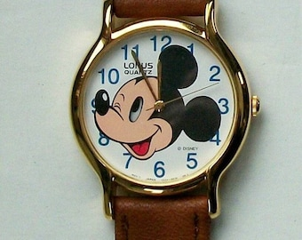 New Vintage Animated Moving Eye Mickey Mouse Watch!  HTF! Gorgeous!