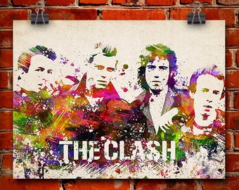 The Clash In Color Poster, Home Decor, Gift Idea