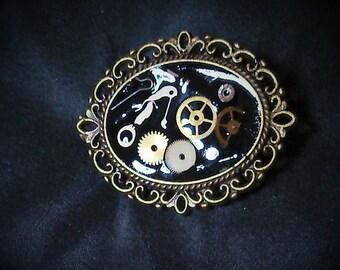 steampunk style brooch