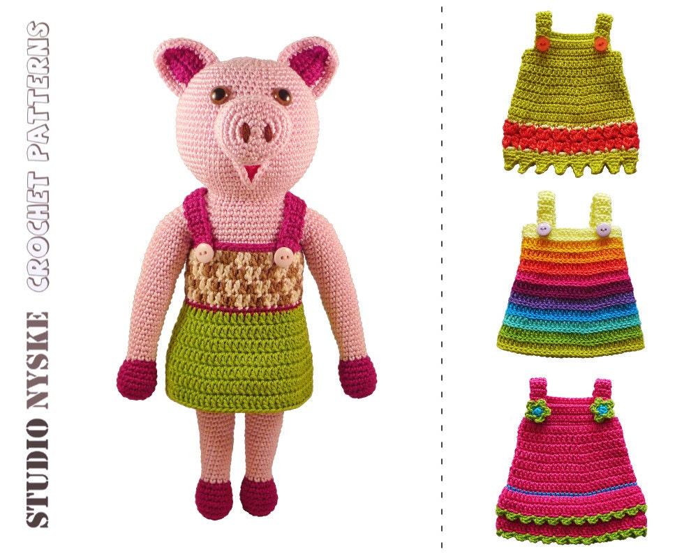 Large Amigurumi Doll Pattern : Dress up doll PATTERN crochet amigurumi toy LARGE by ...