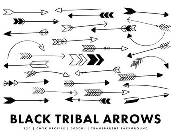 Black Arrows - Arrow Clipart Doodles Clip Art Pack ...