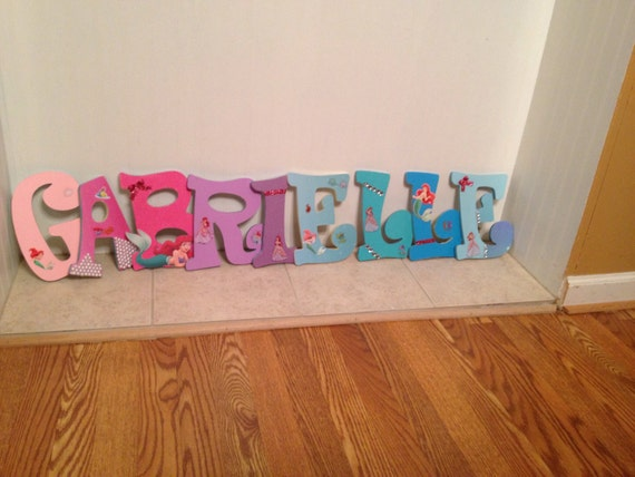 Items Similar To The Little Mermaid Wooden Letters