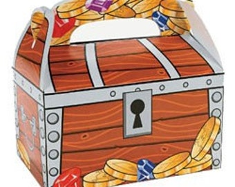 Treasure Chest Treat Boxes Set of 12 /favor boxes